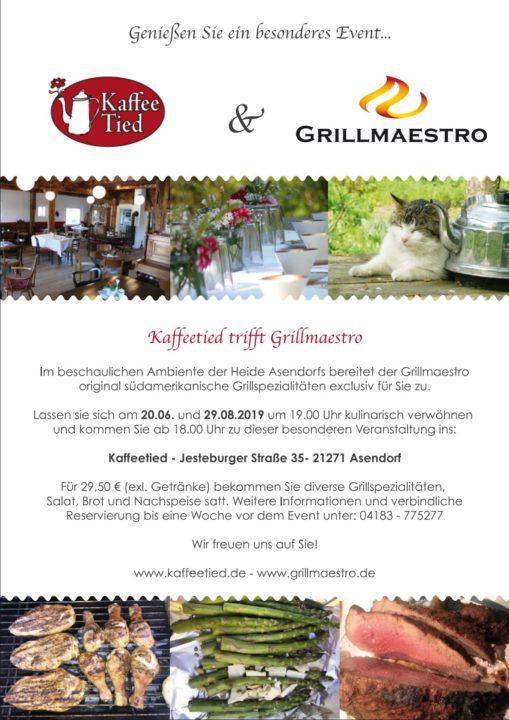 Kaffeetied trifft Grillmaestro: 20. Juni 2019 und 29. August 2019